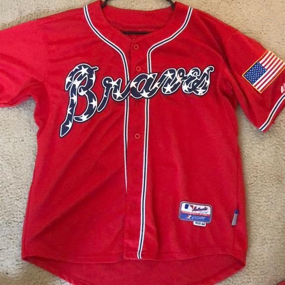 Majestic Other - Atlanta Braves July 4th Chipper Jones Jersey 32fc685c539